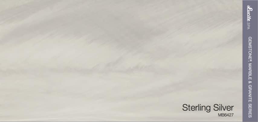 Barva akrylátu vířivky Lucite Sterling Silver