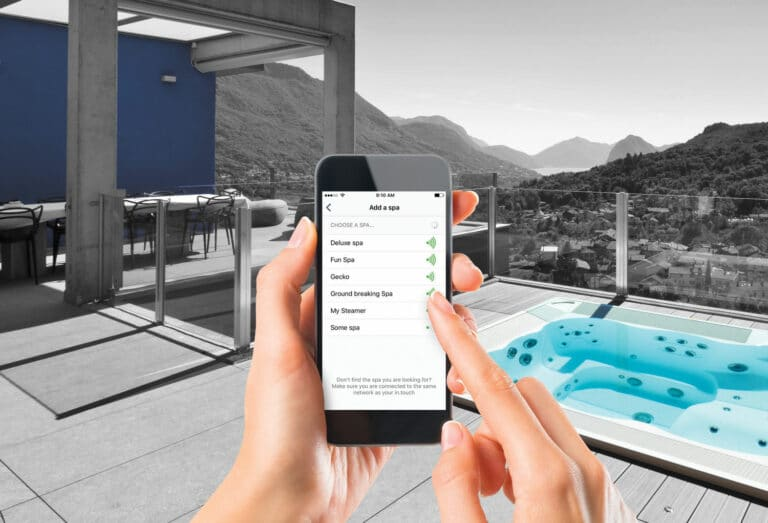 control hot tub swim spa pool mobile phone
