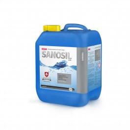 Sanosil super je kapalný vysoce účinný dezinfekční přípravek určený pro dezinfekci swim spa a vířivky a bazénové vody založený na synergickém účinku obou jeho základních složek, peroxidu vodíku a stříbra