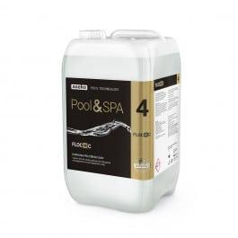 FLOC+C je vysoce účinná směs polymerních flokulantů a koagulantů na čiření bazénové vody pro bazény, swim spa a vířivky.