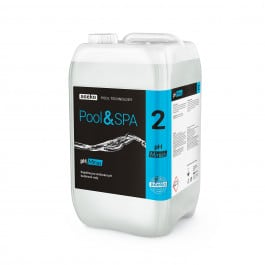 Kapalina na snižování pH na bázi anorganické kyseliny. Vhodná pro údržbu pH ve všech typech bazénu, swim spa a vířivky.