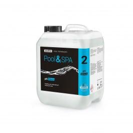 Kapalina na snižování pH na bázi anorganické kyseliny. Vhodná pro údržbu pH ve všech typech bazénu swimspa vířivky